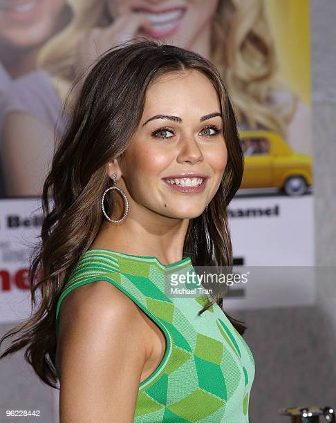 Alexis Dziena arrives to the Los Angeles premiere of 'When In Rome' held at the El Capitan Theatre on January 27 2010 in Hollywood California