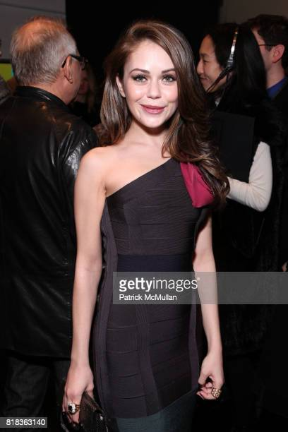 Alexis Dziena attends HERVE LEGER By Max Azria Fall 2010 Collection at Promenade on February 14 2010 in New York City