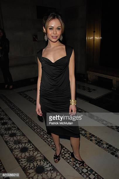 Alexis Dziena attends SEAN JOHN Fall 2008 Collection Fashion Show at Cipriani NYC on February 8 2008
