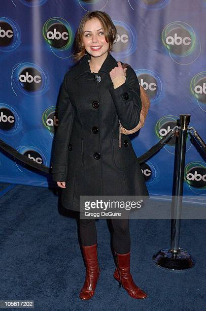 Alexis Dziena of 'Invasion' during 2006 ABC Network AllStar Party Arrivals and Inside at The Wind Tunnel in Pasadena California United States