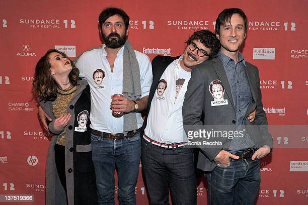 Alexis Dziena Quentin Dupieux Gregory Bernard and Jack Plotnick attend the 'Wrong' premiere during the 2012 Sundance Film Festival held at Prospector...
