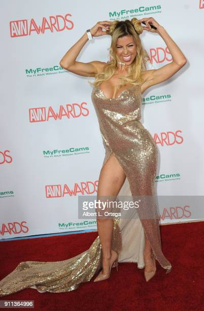 Alexis Fawx attends the 2018 Adult Video News Awards held at Hard Rock Hotel Casino on January 27 2018 in Las Vegas Nevada
