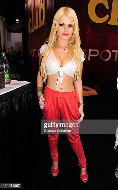 Alexis Ford attends EXXXOTICA Miami Beach at the Miami Beach Convention Center on May 20 2011 in Miami Beach Florida