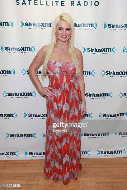 Alexis Ford Penthouse Pet of the Month for June 2012 visits SiriusXM Studios on July 24 2012 in New York City