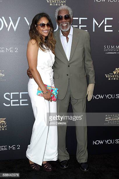 Alexis Freeman and Actor Morgan Freeman attend Summit Entertainment presents the world premiere of Now You See Me 2 at AMC Loews Lincoln Square on...
