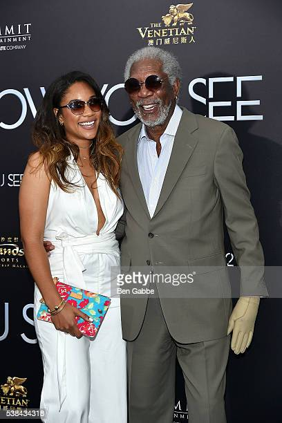 Alexis Freeman and actor Morgan Freeman attend the Now You See Me 2 World Premiere at AMC Loews Lincoln Square 13 theater on June 6 2016 in New York...