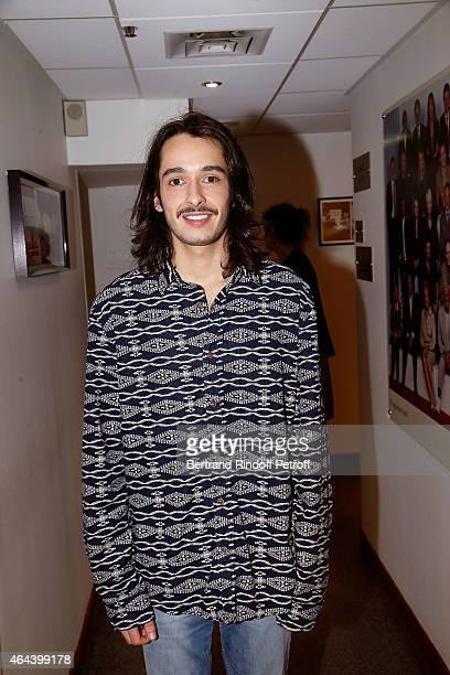 Alexis Fugain son of Michel Fugain attends the 'Vivement Dimanche' French TV Show at Pavillon Gabriel on February 25 2015 in Paris France