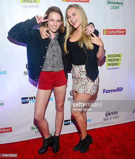 Alexis G Zall and Madison Iseman attend Social Media Week Los Angeles and What's Trending opening night party to celebrate the 4th Annual Social 25...