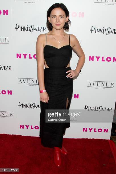 Alexis G Zall arrives for NYLON Hosts Annual Young Hollywood Party at Avenue on May 22 2018 in Los Angeles California