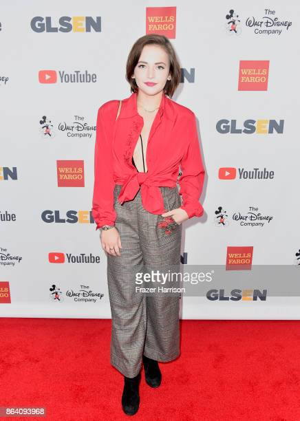 Alexis G Zall at the 2017 GLSEN Respect Awards at the Beverly Wilshire Four Seasons Hotel on October 20 2017 in Beverly Hills California
