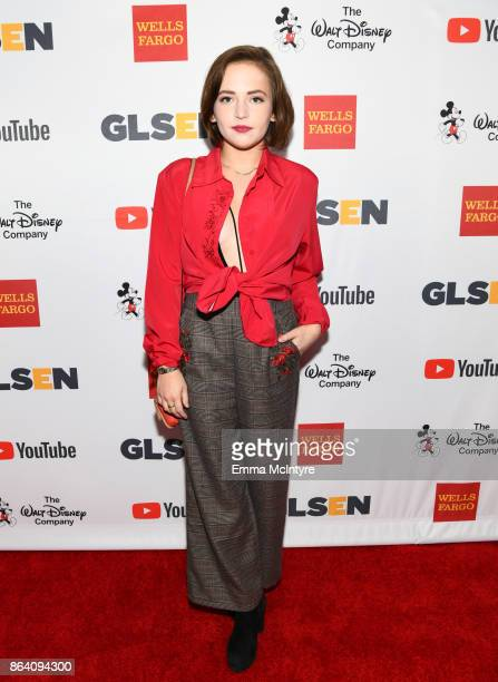 Alexis G Zall at the 2017 GLSEN Respect Awards at the Beverly Wilshire Hotel on October 20 2017 in Los Angeles California