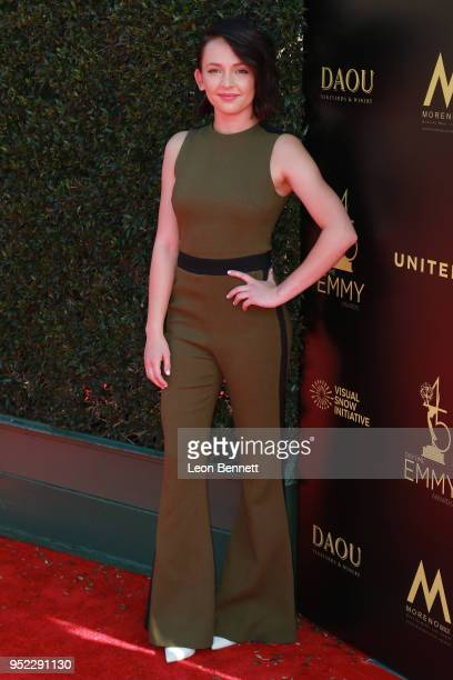 Alexis G Zall attends the 45th Annual Daytime Creative Arts Emmy Awards Arrivals at Pasadena Civic Auditorium on April 27 2018 in Pasadena California