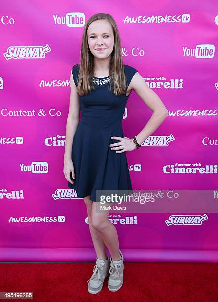 Alexis G Zall attends the Summer With Cimorelli red carpet premiere event at YouTube Space LA on June 3 2014 in Los Angeles California
