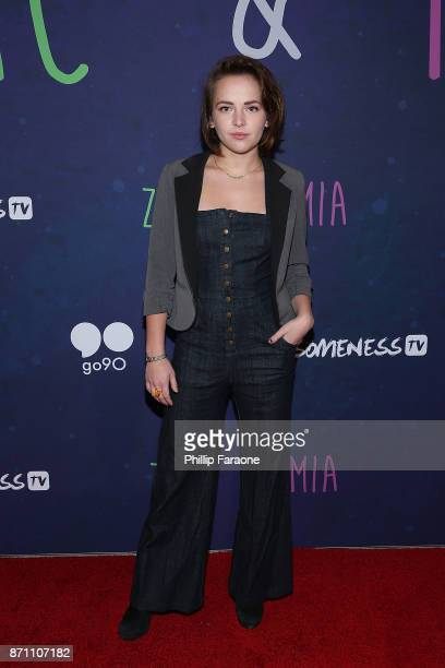 Alexis G Zall attends the 'Zac Mia' premiere event at Awesomeness HQ on November 6 2017 in Los Angeles California