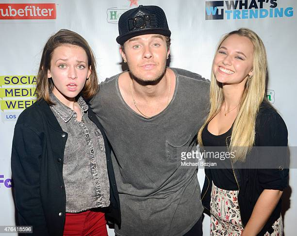 Alexis G Zall Bart Baker and Madison Iseman attend Social Media Week Los Angeles and What's Trending opening night party to celebrate the 4th Annual...