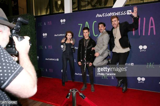 Alexis G Zall Jason Pearlman Kian Lawley and James Boyd attend the 'Zac Mia' premiere event at Awesomeness HQ on November 6 2017 in Los Angeles...