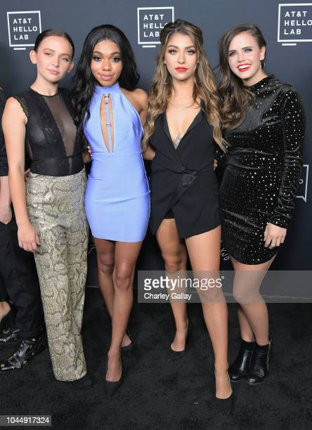 Alexis G Zall Teala Dunn Andrea Russett and Tiffany Alvord attend the 'Guilty Party History of Lying' Season 2 premiere at ArcLight Cinemas on...