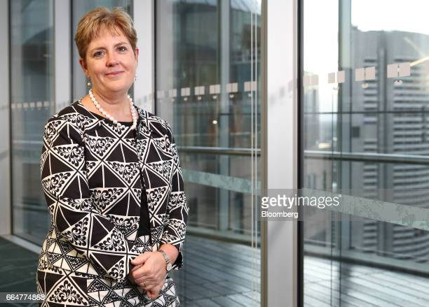 Alexis George head of wealth at Australia and New Zealand Banking Group poses for a photograph ahead of a Bloomberg Voices panel discussion in Sydney...