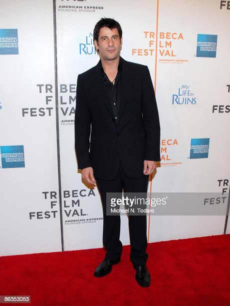 Alexis Georgoulis attends the 8th Annual Tribeca Film Festival My Life in Ruins premiere at the BMCC/Tribeca Performing Arts Center on May 2 2009 in...