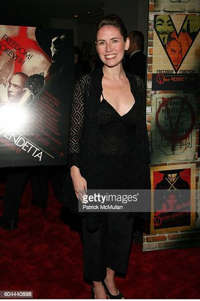 Alexis Glick attends New York Premiere of Warner Bros ìV For Vendettaî Arrivals at The Rose Theater on March 13 2006 in New York City