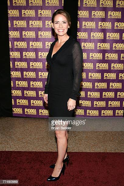 Alexis Glick of Fox Business News arrives at the Fox Business Network launch party at the Metropolitain Museum of Arts on October 24 2007 in New York...