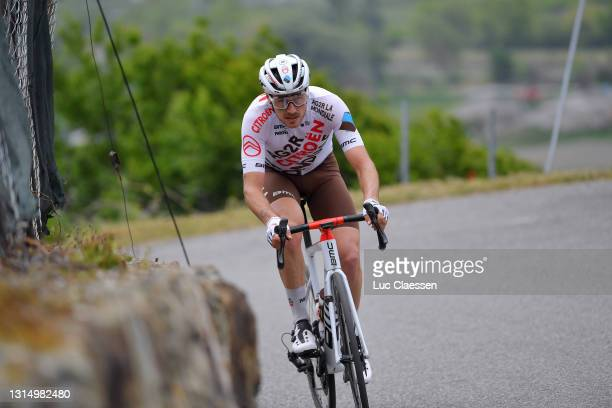 Alexis Gougeard of France and AG2R Citröen Team on breakaway during the 74th Tour De Romandie 2021, Stage 1 a 168,1km stage from Aigle to Martigny /...