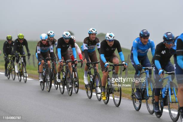 Alexis Gougeard of France and Team AG2R La Mondiale / Alexandre Geniez of France and Team AG2R La Mondiale / Oliver Naesen of Belgium and Team AG2R...