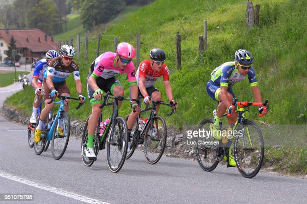 Alexis Gougeard of France and Team AG2R La Mondiale / Antoine Duchesne of Canada and Team GroupamaFDJ / Remy Mertz of Belgium and Team Lotto Soudal /...
