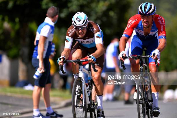 Alexis Gougeard of France and Team Ag2R La Mondiale / Damien Gaudin of France and Team Total Direct Energie / Breakaway / during the 33rd Tour...