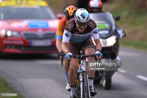 Alexis Gougeard of France and Team AG2R La Mondiale / Jan Tratnik of Slovenia and Team Bahrain - Mclaren / Breakaway / during the 78th Paris - Nice...