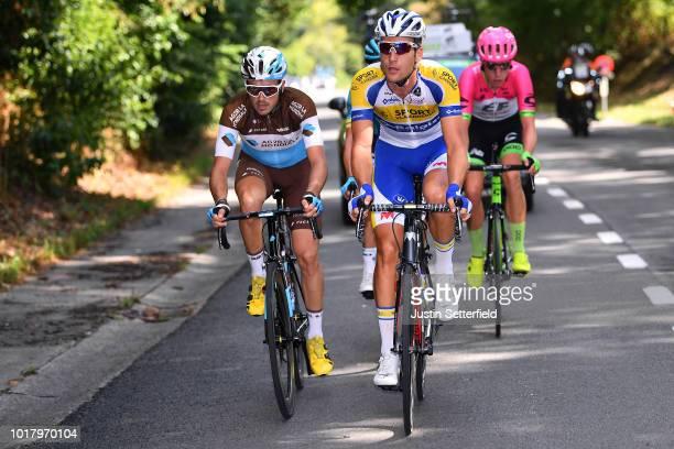 Alexis Gougeard of France and Team AG2R La Mondiale / Jonas Rickaert of Belgium and Team Sport VlaanderenBaloise / during the 14th BinckBank Tour...