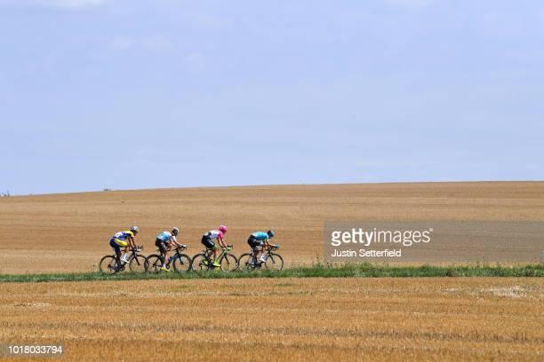 Alexis Gougeard of France and Team AG2R La Mondiale / Jonas Rickaert of Belgium and Team Sport VlaanderenBaloise / Magnus Cort Nielsen of Denmark and...