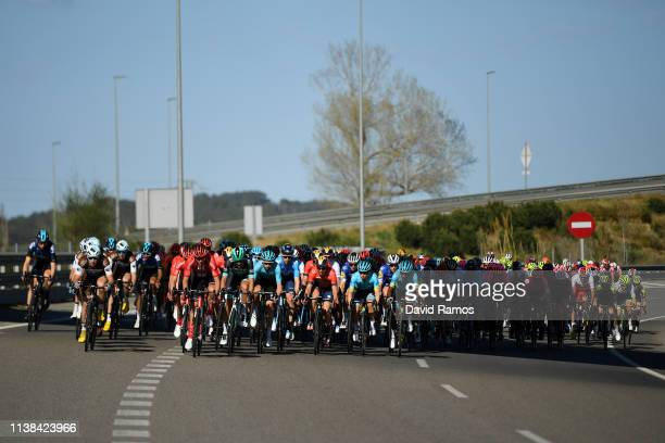 Alexis Gougeard of France and Team AG2R La Mondiale / Lennard Kamna of Germany and Team Sunweb / Carlos Verona of Spain and Movistar Team / Imanol...