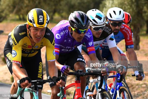 Alexis Gougeard of France and Team Ag2R La Mondiale / Matthew Holmes of The United Kingdom and Team Lotto Soudal / Juan Felipe Osorio of Colombia...