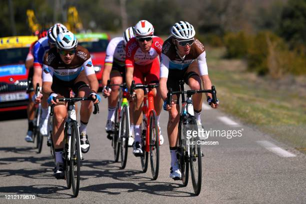 Alexis Gougeard of France and Team AG2R La Mondiale / Romain Bardet of France and Team AG2R La Mondiale / Anthony Perez of France and Team Cofidis...