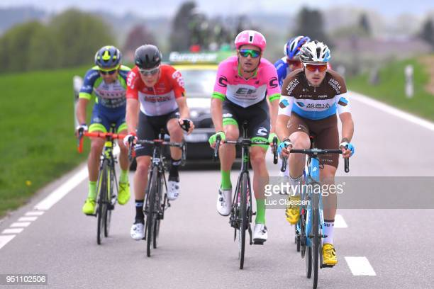 Alexis Gougeard of France and Team AG2R La Mondiale / William Clarke of Australia and Team EF Education FirstDrapac p/b Cannondale / during the 72nd...