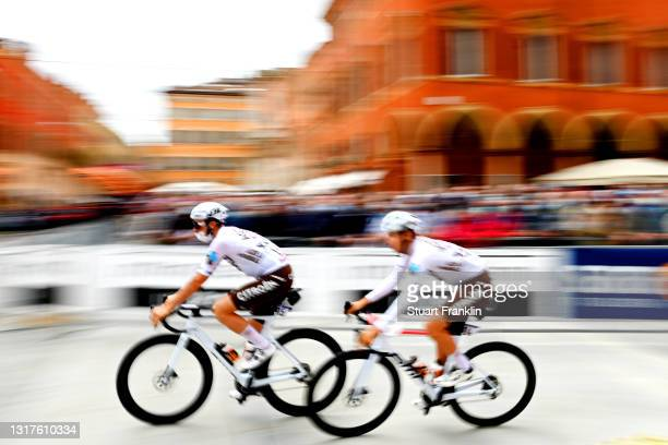 Alexis Gougeard of France & Clement Champoussin of France and AG2R Citröen Team at start during the 104th Giro d'Italia 2021, Stage 5 a 177km stage...