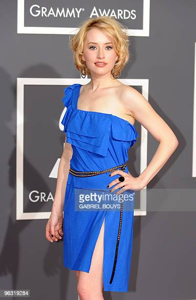 Alexis Grace arrives on the red carpet at the 52nd Grammy Awards in Los Angeles California on January 31 2010 AFP PHOTO/ GABRIEL BOUYS