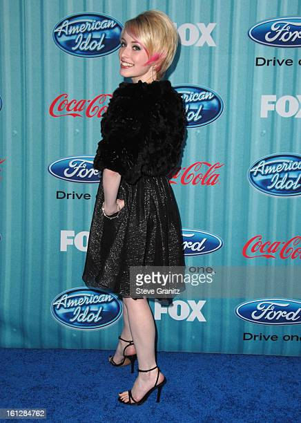 Alexis Grace attends the American Idol Top 12 Party at AREA on March 5 2009 in Los Angeles California