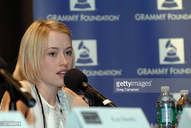 Alexis Grace participates in a panel discussion at the Memphis Chapter GRAMMY Career Day at Overton High School on February 12 2010 in Memphis...