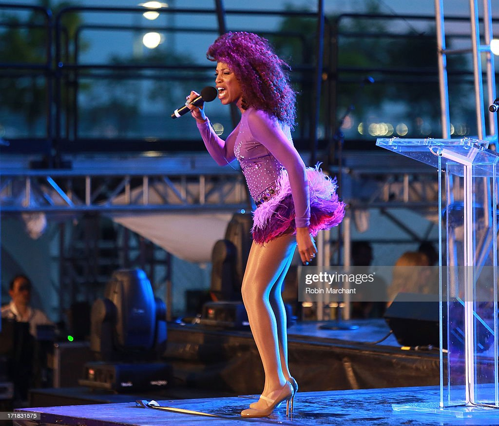 Alexis Houston performs at The Rally during NYC Pride 2013 on June 28, 2013 in New York City.