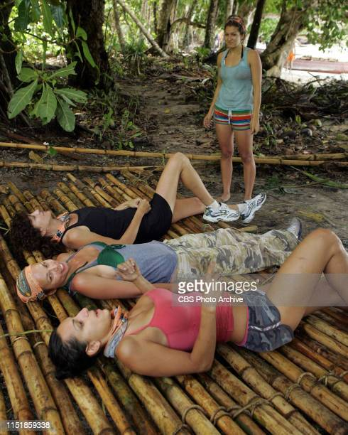 Alexis Jones Kathleen Sleckman Natalie Bolton and Mary Sartain during the first episode of Survivor Micronesia Fans vs Favorites