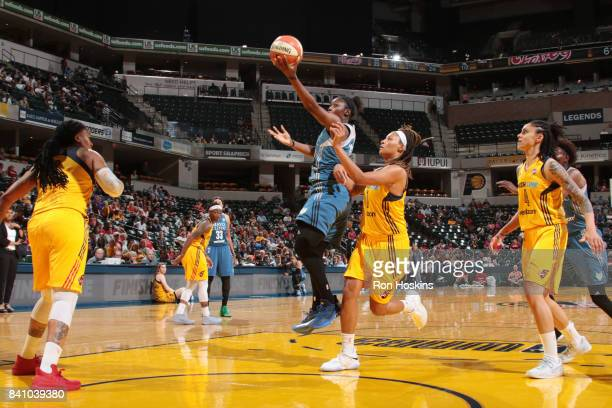 Alexis Jones of the Minnesota Lynx shoots the ball against the Indiana Fever on August 30 2017 at Bankers Life Fieldhouse in Indianapolis Indiana...