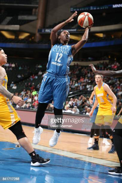 Alexis Jones of the Minnesota Lynx shoots the ball during the game against the Chicago Sky on September 1 2017 at Xcel Energy Center in St Paul...
