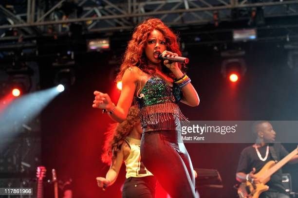 Alexis Jordan performs on the first day of Wireless Festival at Hyde Park on July 1 2011 in London England
