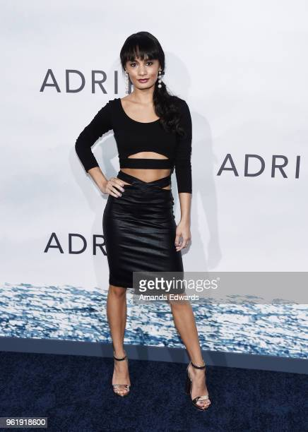 Alexis Joy arrives at the premiere of STX Films' 'Adrift' at the Regal LA Live Stadium 14 on May 23 2018 in Los Angeles California