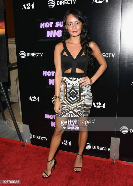 "Alexis Joy attends the Los Angeles special screening of ""Hot Summer Nights"" at Pacific Theatres at The Grove on July 11, 2018 in Los Angeles,..."