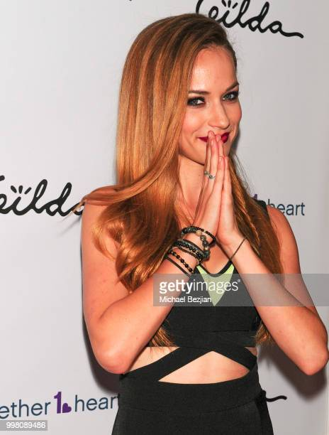 Alexis Knapp arrives at Gilda Garza Presents Kings Queens Art Exhibition in Support of Together1Heart on July 12 2018 in Los Angeles California