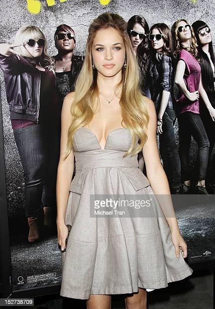 Alexis Knapp arrives at the Los Angeles premiere of Pitch Perfect held at ArcLight Cinemas on September 24 2012 in Hollywood California
