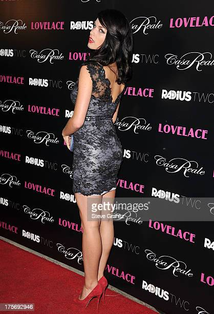 Alexis Knapp arrives at the 'Lovelace' Los Angeles Premiere at the Egyptian Theatre on August 5 2013 in Hollywood California